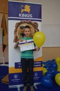 Tomas su apdovanojimu